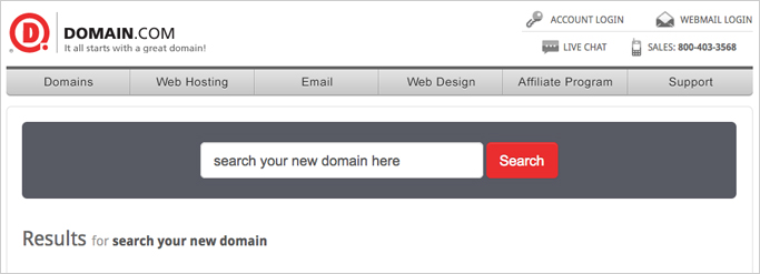 Buy your domain name now. Build your site later.